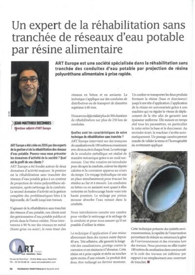 Jean-Matthieu DECOMBES parle d'A.R.T. Europe dans l'Ingénierie Territoriale